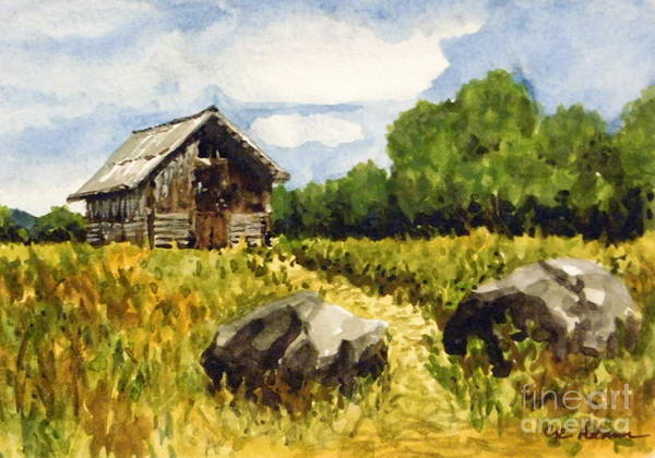 Arapahoe County Wall Art - Painting - Plein Air Summer - Hildebrand Ranch by Cheryl Emerson Adams