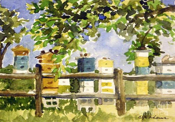 Arapahoe County Wall Art - Painting - Plein Air Summer - Hudson Gardens by Cheryl Emerson Adams