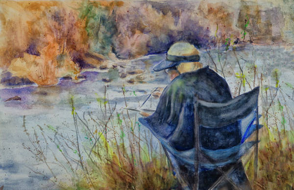 Painting - Plein Air Watercolor by Rick Mosher