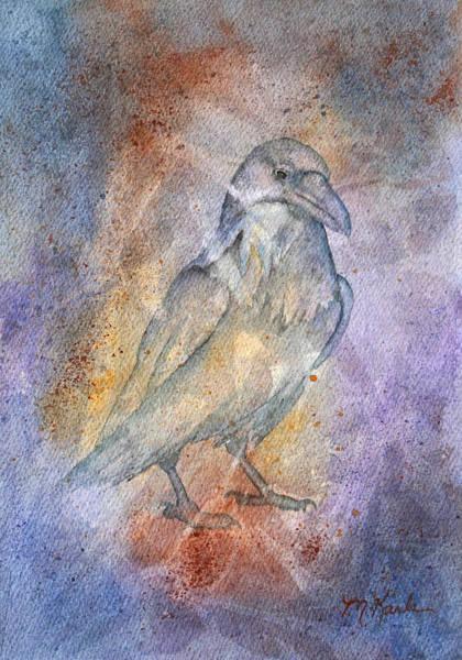 Painting - Pleistocene Raven 1 by Marsha Karle