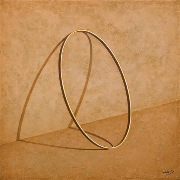 Gold Painting - Plenty Of Emptiness by Horacio Cardozo