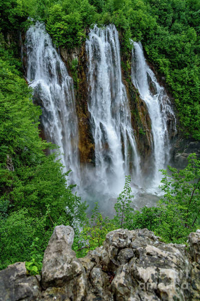 Photograph - Plitvice Lakes Waterfall - A Balkan Wonder In Croatia by Global Light Photography - Nicole Leffer
