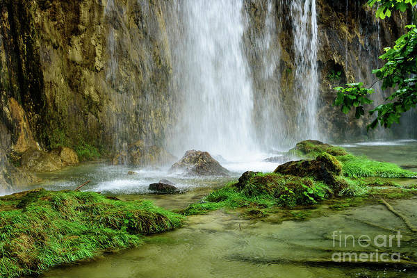 Photograph - Plitvice Waterfall Closeup - Plitivice Lakes National Park, Croatia by Global Light Photography - Nicole Leffer