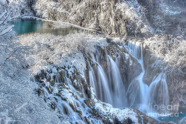 Photograph - Plitvice Winter by Peter Kennett