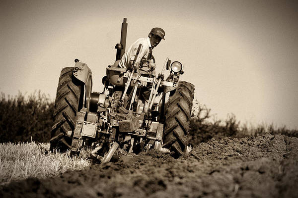 Photograph - Ploughing by Peter OReilly