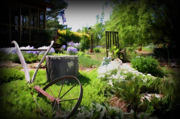 Plow In The Garden Art Print