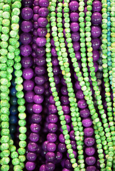 Wall Art - Photograph - Plum And Lime Beads by Marilyn Hunt