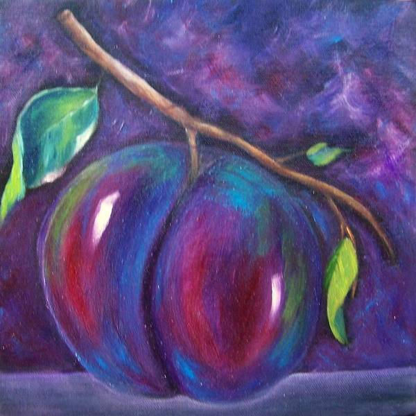 Painting - Plum Done by Susan Dehlinger