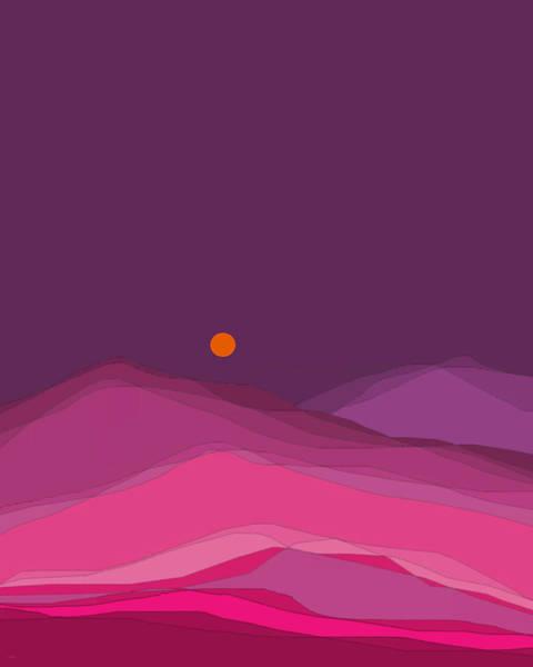 Digital Art - Plum Hills II by Val Arie