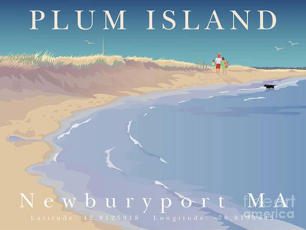 Wall Art - Painting - Plum Island, Newburyport, Ma by Leslie Alfred McGrath