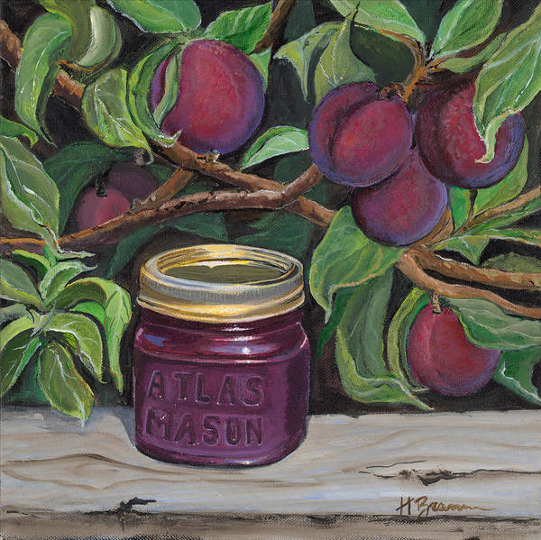 Holly Brannan Wall Art - Painting - Plum Preserves by Holly Bartlett Brannan