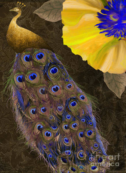 Peafowl Painting - Plumage II by Mindy Sommers