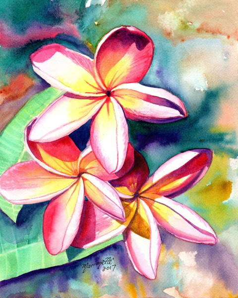 Painting - Plumeria Garden 2 by Marionette Taboniar