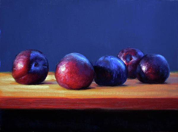 Plums Painting - Plums by Armand Cabrera