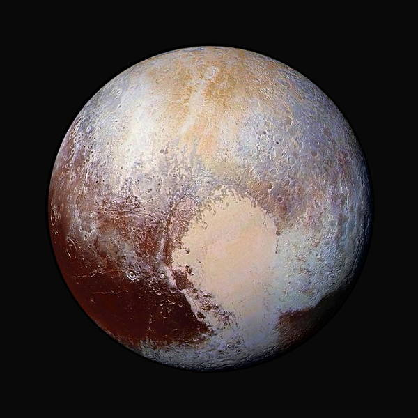 Flyby Photograph - Pluto Dazzles In False Color - Square Crop by Nasa