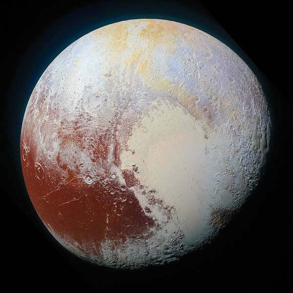 Photograph - Pluto  by Photo by NASA Edit M Hauser