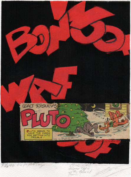 Drawing - Pluto The Psycho Dog by Erik Paul