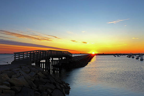 Photograph - Plymouth Harbor And Jetty Sunrise View by Juergen Roth