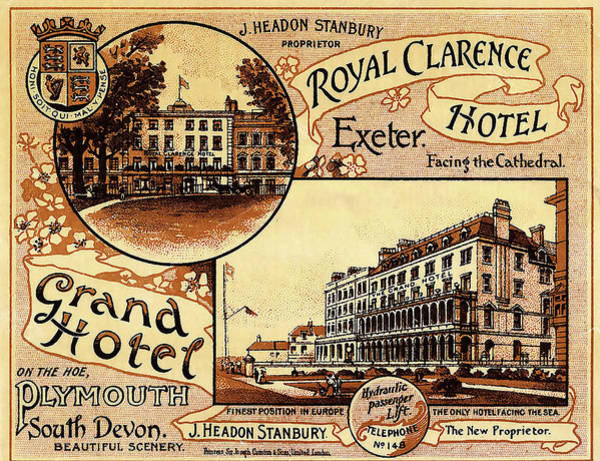 Devon Painting - Plymouth, South Devon, Grand Hotel by Long Shot
