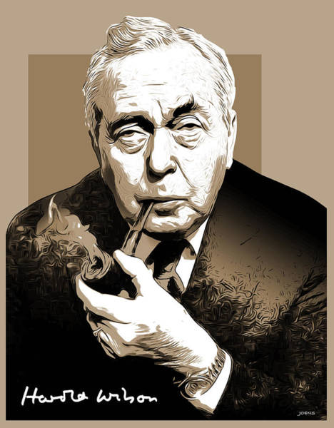 Wall Art - Digital Art - Pm Harold Wilson by Greg Joens