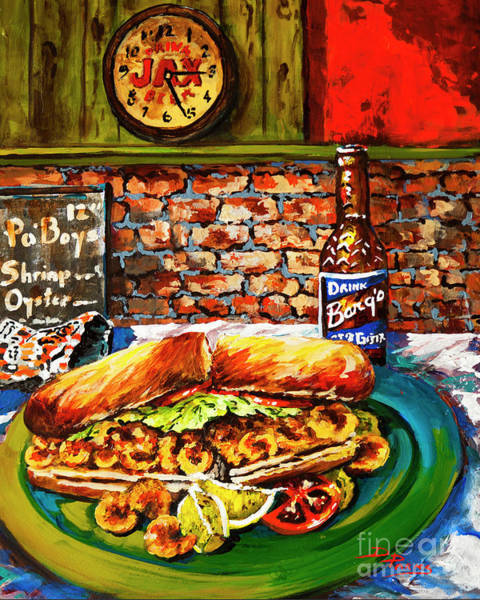 Wall Art - Painting - Po'boy Time by Dianne Parks