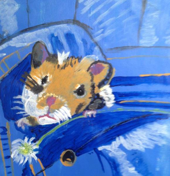 Wall Art - Painting - Pocket Friend by Julie Thomas-Zucker