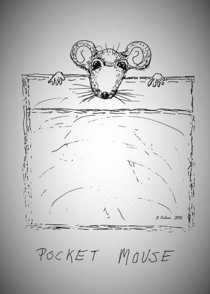 Drawing - Pocket Mouse by Denise F Fulmer