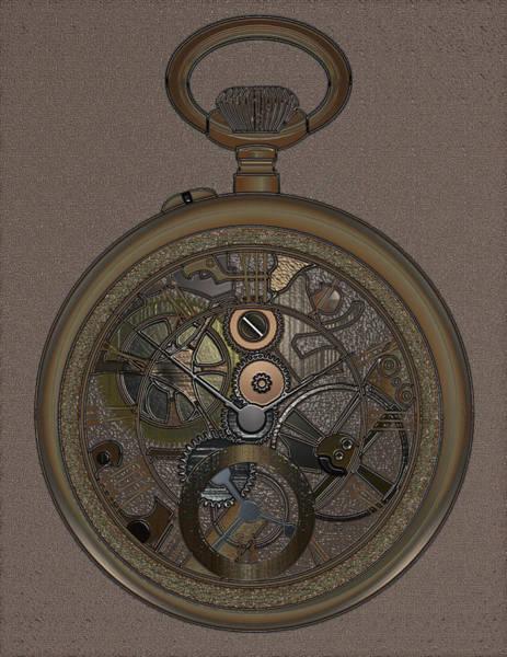 Wall Art - Digital Art - Pocket Watch by James Barnes