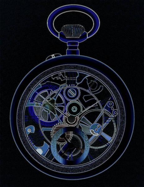 Wall Art - Digital Art - Pocket Watch Nightwatch by James Barnes