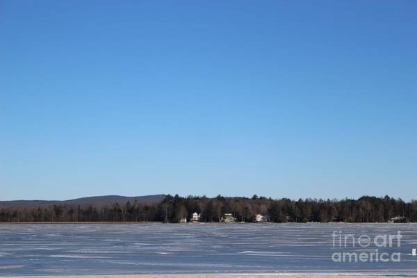 Photograph - Poconos, The Lake In January by Christopher Lotito