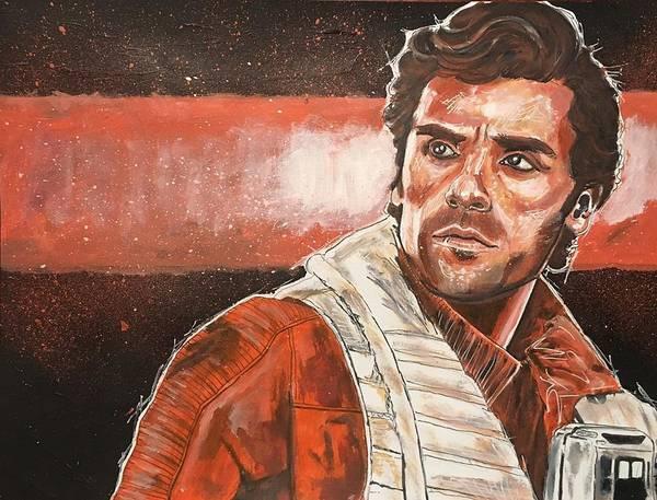 Painting - Poe Dameron by Joel Tesch