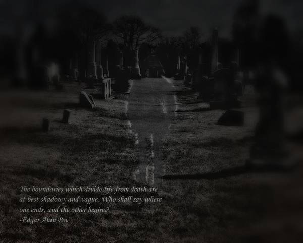 Photograph - Poe On Death by John Feiser