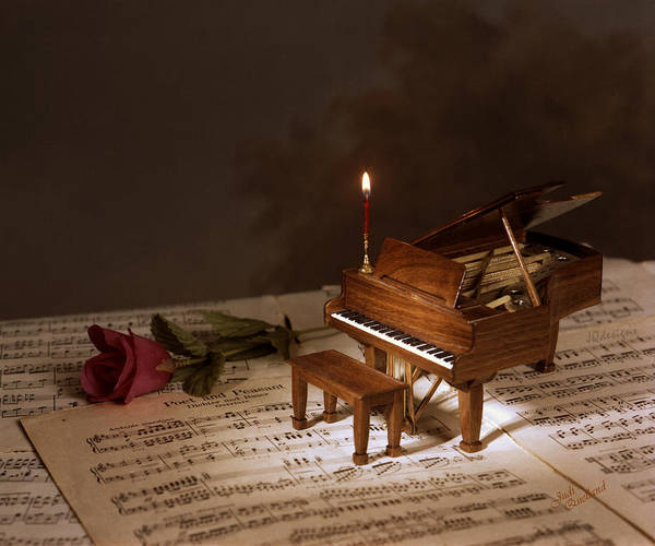 Grand Piano Digital Art - Poet And Peasant by Judi Quelland