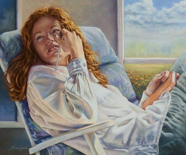 Pastel - Poet Ponders A Sunbeam by Denise Horne-Kaplan
