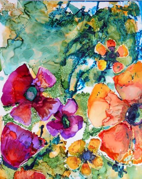 Painting - Poetry Of Petals by Pam Halliburton
