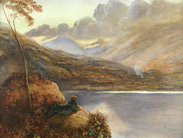 Tranquility Painting - Poet's Rest Place by James Smetham