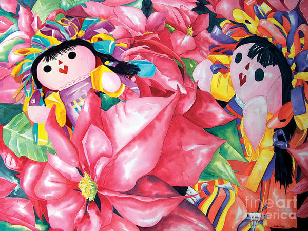 Painting - Poinsettia Christmas by Kandyce Waltensperger