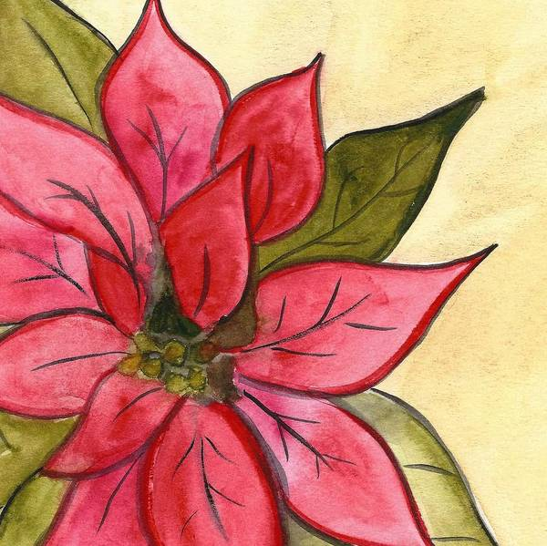 Painting - Poinsettia  by Monica Martin