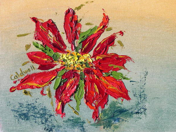 Wall Art - Painting - Poinsettia by Patricia Caldwell