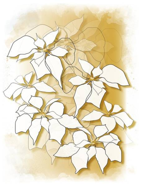 Digital Art - Poinsettias by Gina Harrison