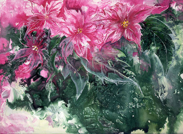 Painting - Poinsettias by Sherry Shipley