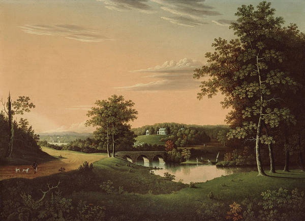 Farmstead Painting - Point Breeze  The Estate Of Napoleon by Charles B Lawrence