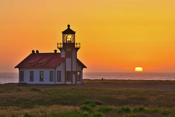 Photograph - Point Cabrillo Light - Sunset by Harold Rau