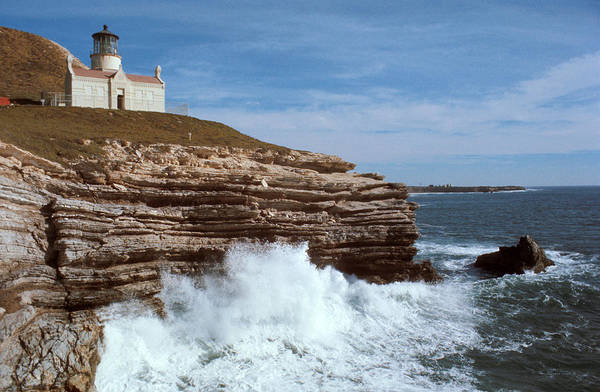 Coast Guard House Photograph - Point Conception Lighthouse by Jerry McElroy