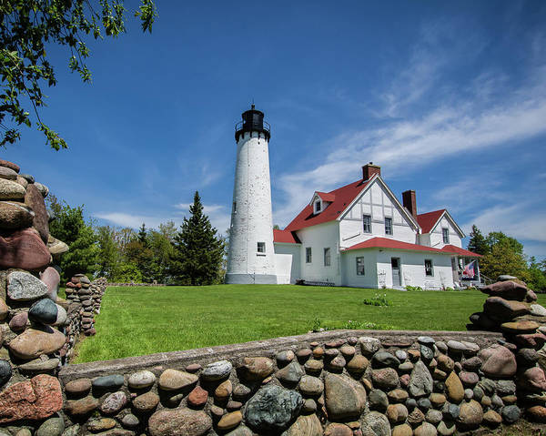 Photograph - Point Iroquois Light Station by William Christiansen