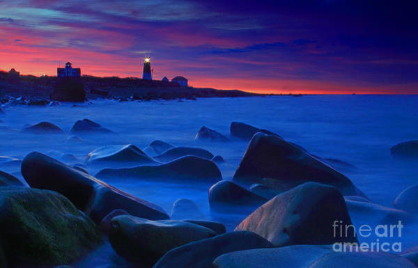 Wall Art - Photograph - Point Judith Lighthouse First Light by Jim Beckwith