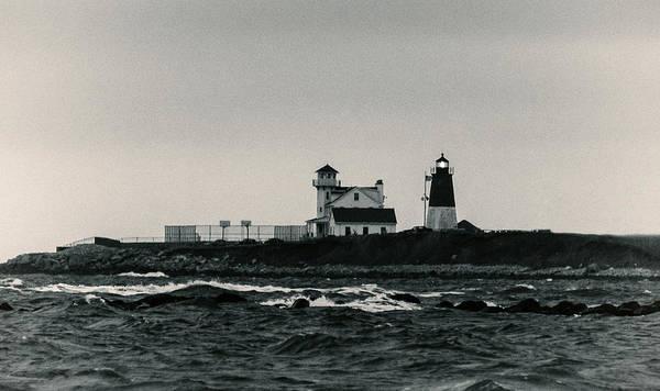 Photograph - Point Judith Lighthouse Narragansett Rhode Island by Nancy De Flon