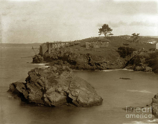 Photograph - Point Lobos, Showing Loading Chute Coal Chute Point  Feb. 13, 19 by California Views Archives Mr Pat Hathaway Archives
