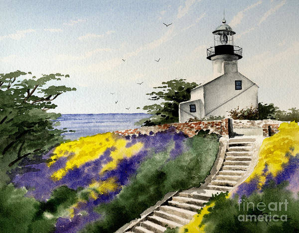 Wall Art - Painting - Point Loma Lighthouse by David Rogers