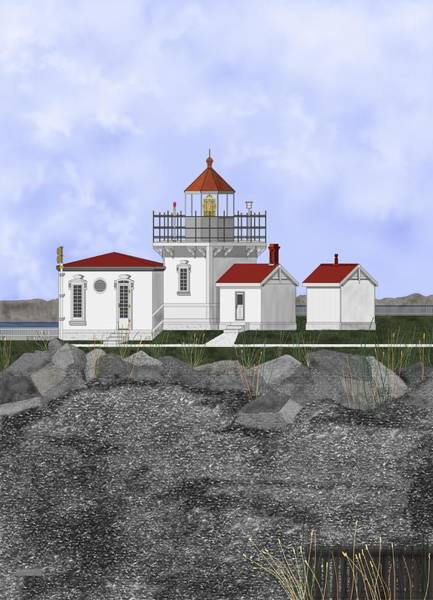 Wall Art - Painting - Point No Point Lighthouse by Anne Norskog